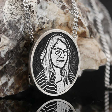Pendants, Girl Photo Pendant - Mens Rings and Wedding Bands by Lox and Lasso™️