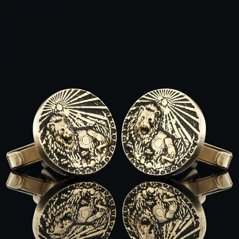 Cufflinks, Leo Zodiac Cufflinks - Mens Rings and Wedding Bands by Lox and Lasso™️
