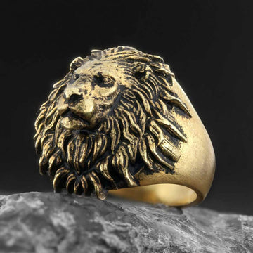 rings, Lion Ring - Mens Rings and Wedding Bands by Lox and Lasso™️