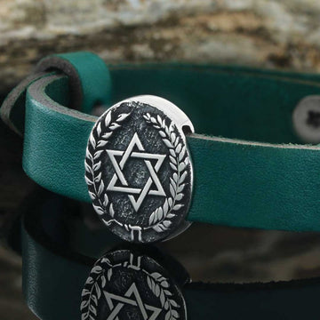bracelets, Magen David Bracelet - Mens Rings and Wedding Bands by Lox and Lasso™️