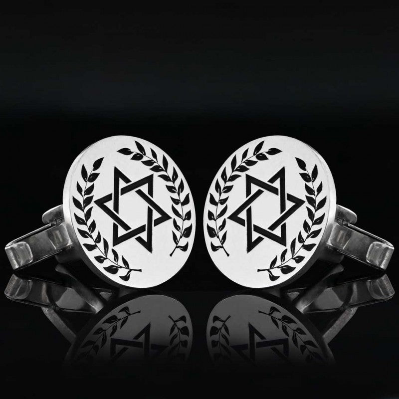 Cufflinks, Magen David Cufflink - Mens Rings and Wedding Bands by Lox and Lasso™️