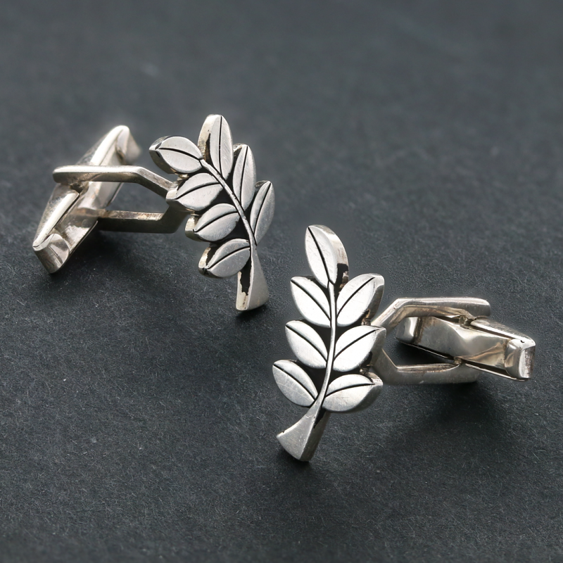 Cufflinks, Acacia Masonic Cufflink - Mens Rings and Wedding Bands by Lox and Lasso™️