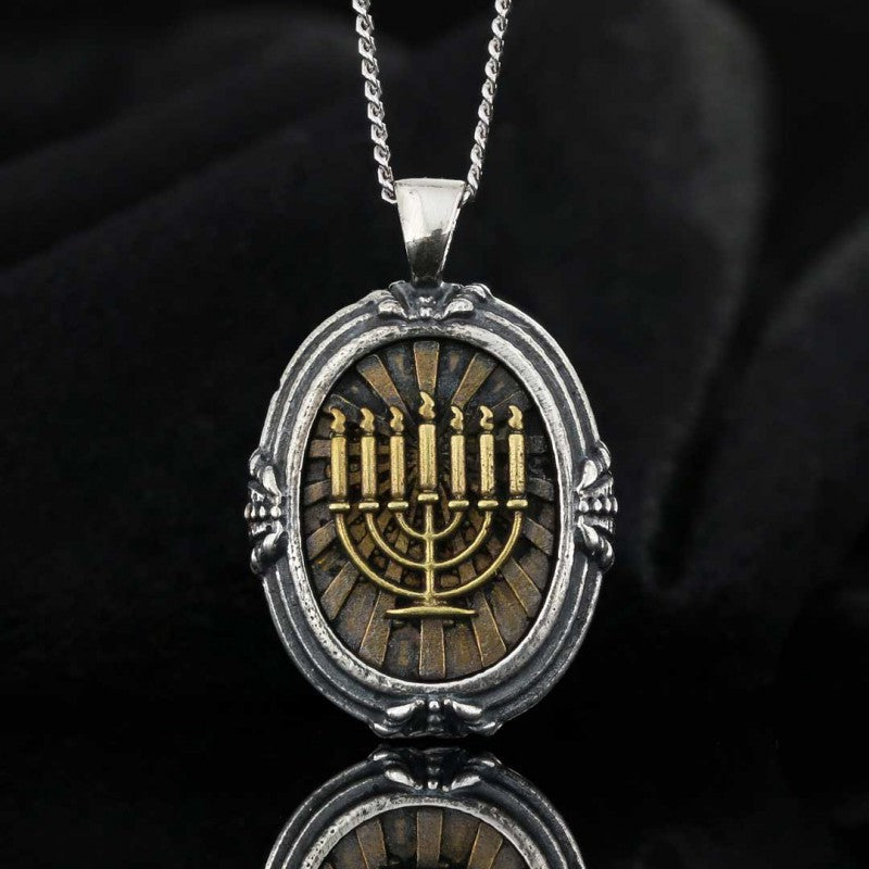 Pendants, Menorah Isolated Pendant - Mens Rings and Wedding Bands by Lox and Lasso™️