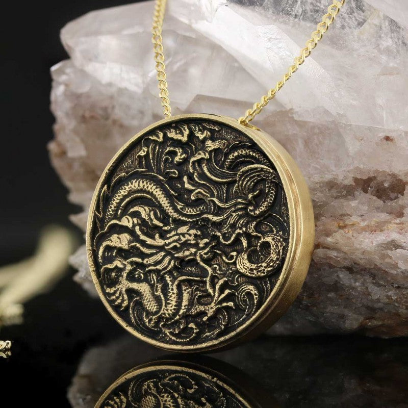 Pendants, Sterling Silver Dragon Pendant - Mens Rings and Wedding Bands by Lox and Lasso™️