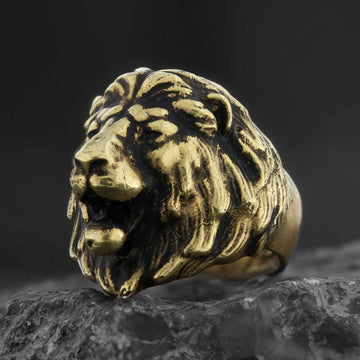 rings, Roaring Lion Ring - Mens Rings and Wedding Bands by Lox and Lasso™️