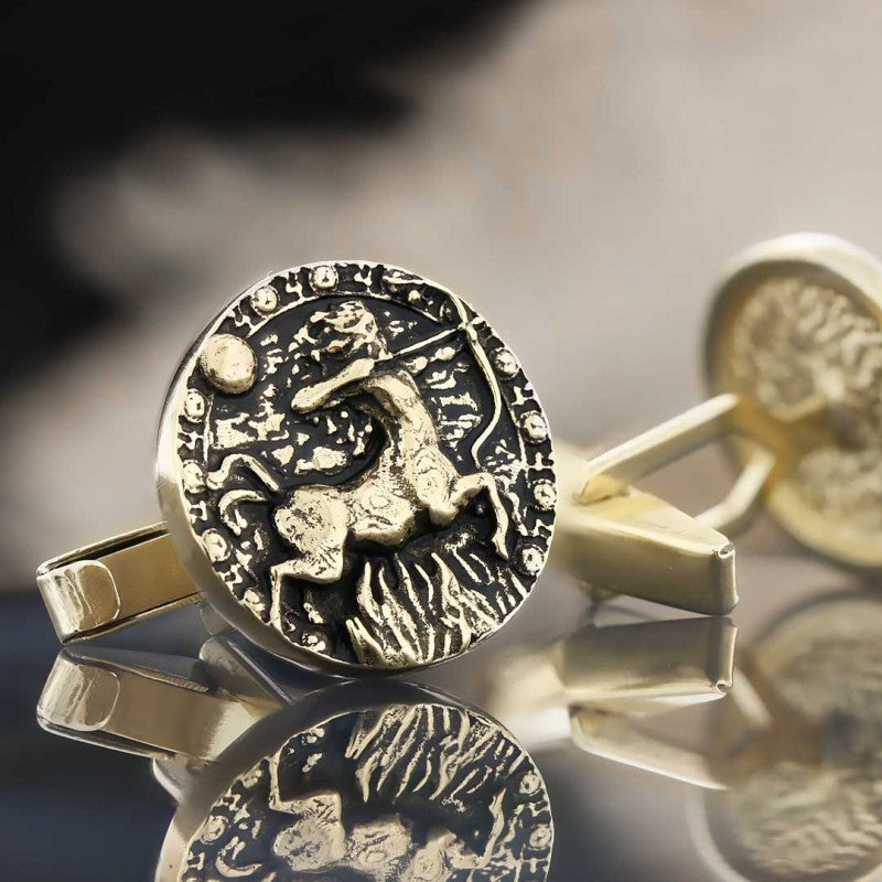 Cufflinks, Sagittarius Zodiac Cufflinks - Mens Rings and Wedding Bands by Lox and Lasso™️