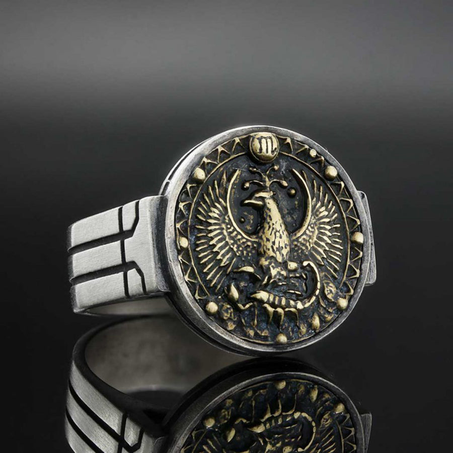 rings, Scorpio Celtic Round Horoscope Ring - Mens Rings and Wedding Bands by Lox and Lasso™️
