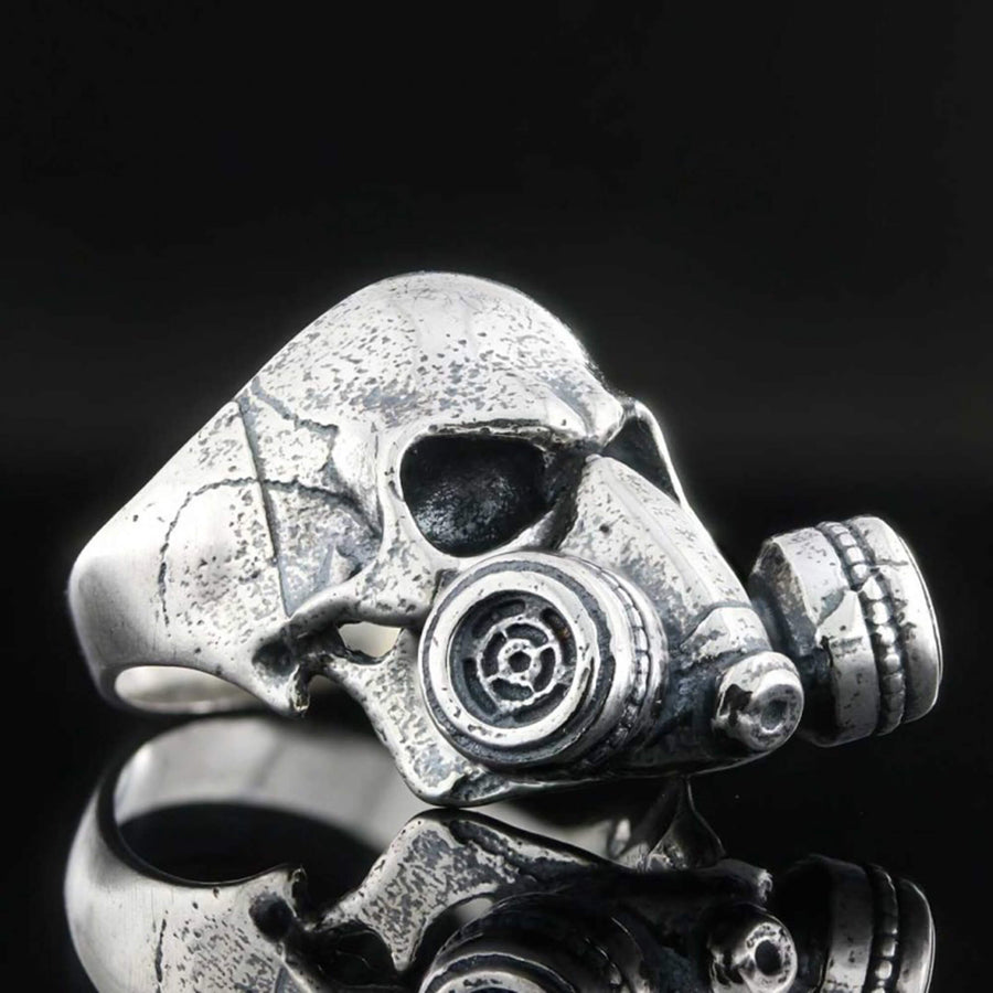 rings, Survivor Skull Ring - Mens Rings and Wedding Bands by Lox and Lasso™️