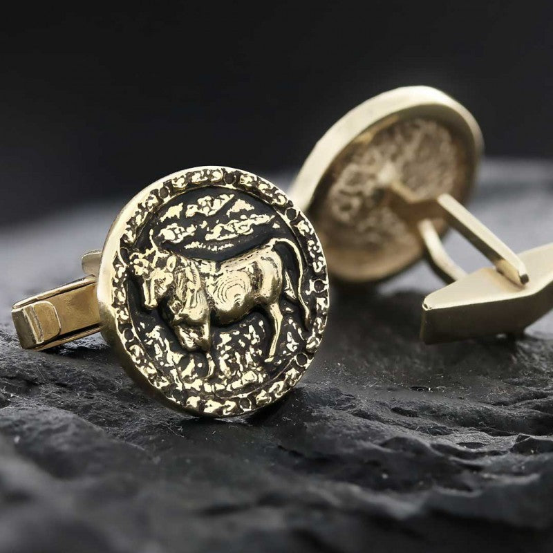 Cufflinks, Taurus Zodiac Cufflinks - Mens Rings and Wedding Bands by Lox and Lasso™️