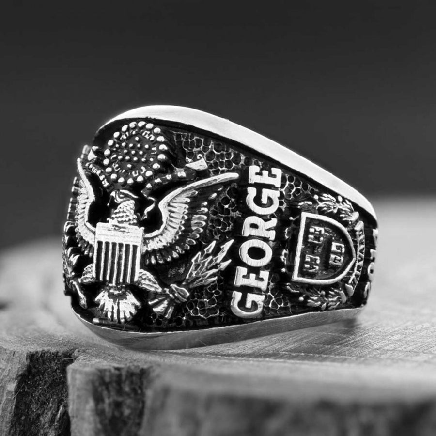 rings, US Eagle Ring - Mens Rings and Wedding Bands by Lox and Lasso™️