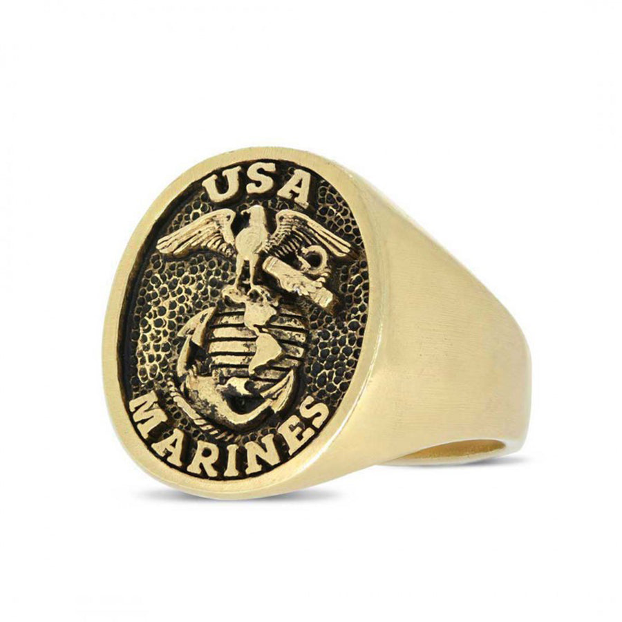 rings, US Marines Eagle Ring - Mens Rings and Wedding Bands by Lox and Lasso™️