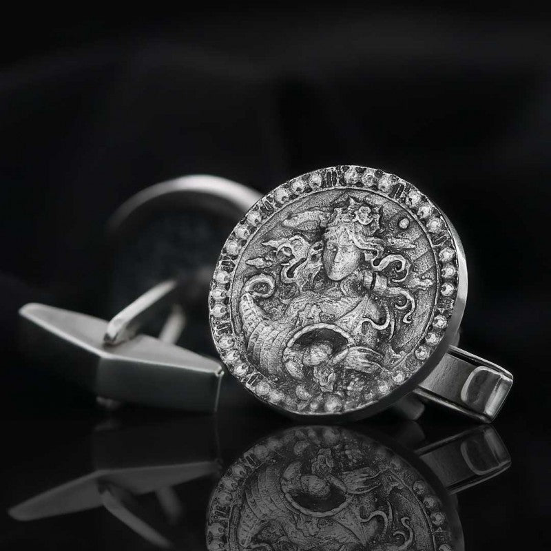 Cufflinks, Virgo Zodiac Cufflinks - Mens Rings and Wedding Bands by Lox and Lasso™️