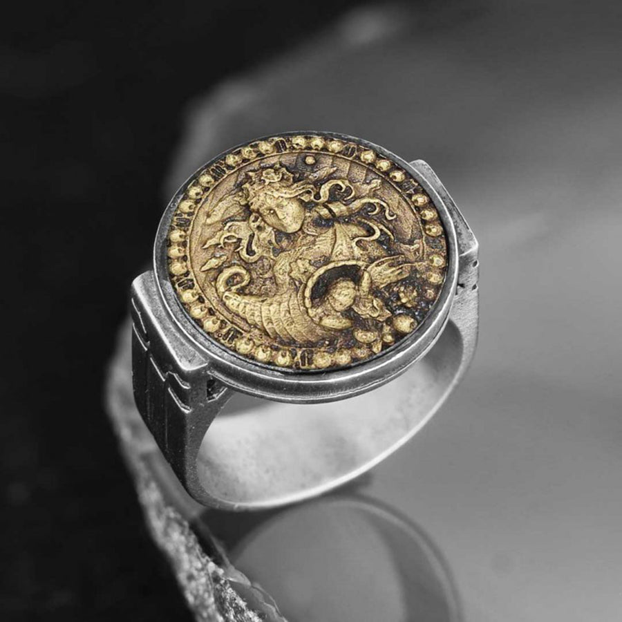 rings, Virgo Celtic Round Horoscope Ring - Mens Rings and Wedding Bands by Lox and Lasso™️