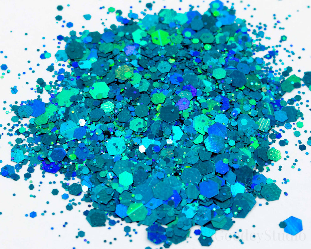 Mermaid Magic Chunky Mix Holographic Glitter