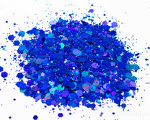 Load image into Gallery viewer, Something Blue Chunky Mix Holographic Glitter