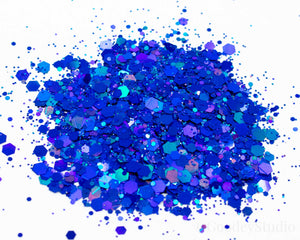 Something Blue Chunky Mix Holographic Glitter