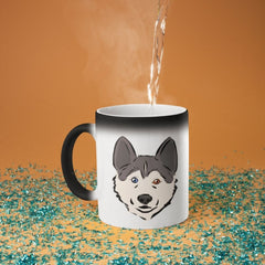 Husky Puppy Magic Mug