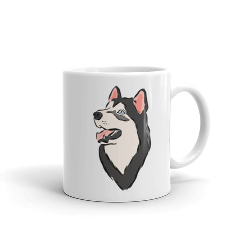 Black and White Husky Mug