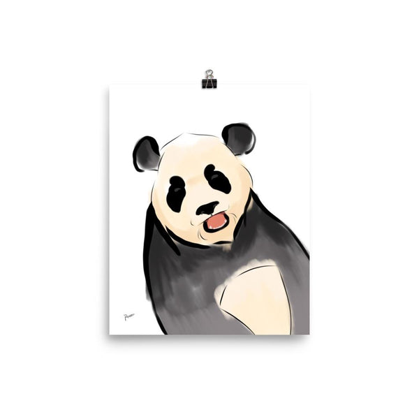 Excited Panda - Matte Poster