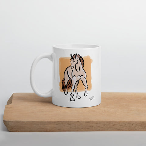 Silver Stallion Coffee Mug