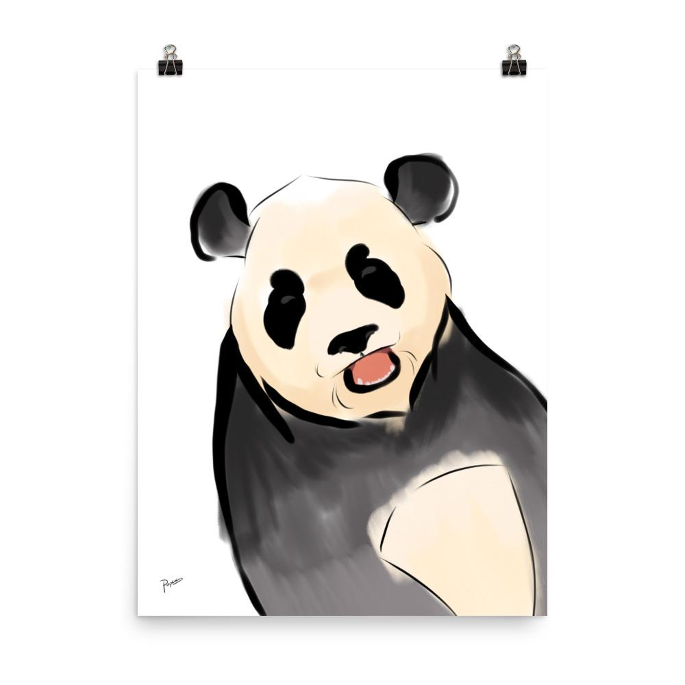 Excited Panda - Matte Poster - PopCocos Art