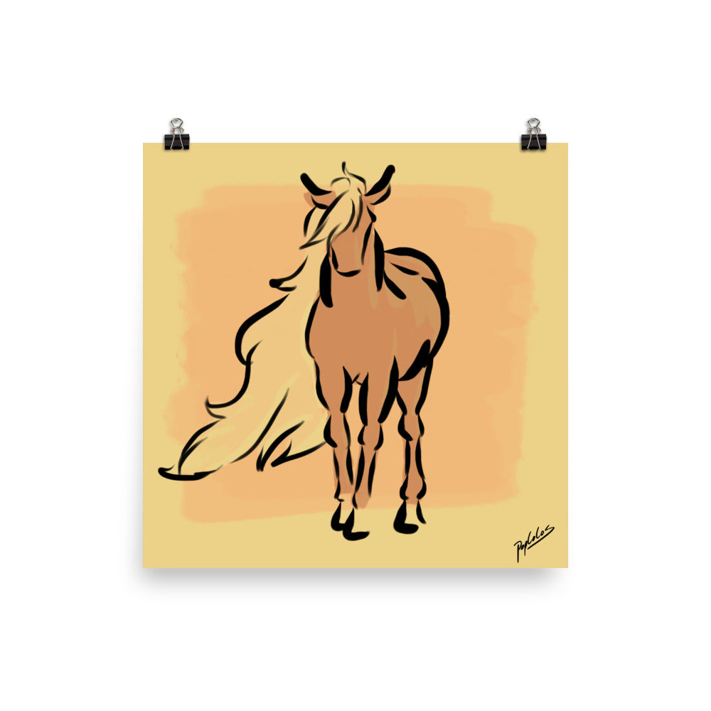 Long-Haired Mare Matte Print