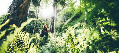Nature Girl in Forest backpack