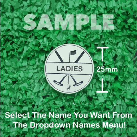 Pro Golf Markers Ladies Names