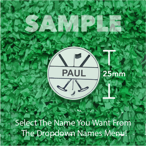 "Golf Markers Men's Names Letter ""P"""