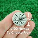 "Golf Markers Men's Names Letter ""Q"""