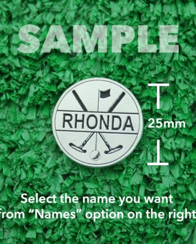 "Golf Markers Ladies Names Letter ""R"""