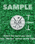 "Golf Markers Men's Names Letter ""A"""