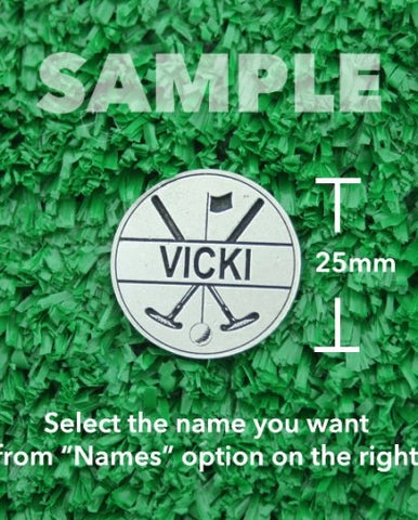 "Golf Markers Ladies Names Letter ""V"""