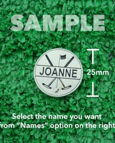 "Golf Markers Ladies Names Letter ""J"""