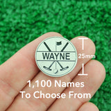 "Golf Markers Men's Names Letter ""W"""