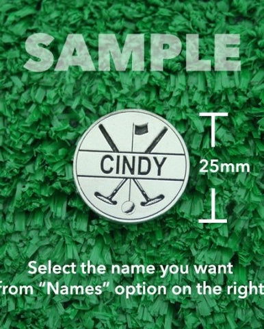 "Golf Markers Ladies Names Letter ""C"""