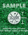 "Golf Markers Men's Names Letter ""O"""