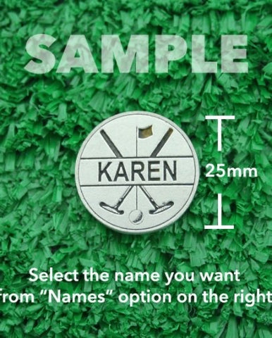 "Golf Markers Ladies Names Letter ""K"""