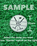 "Golf Markers Men's Names Letter ""V"""