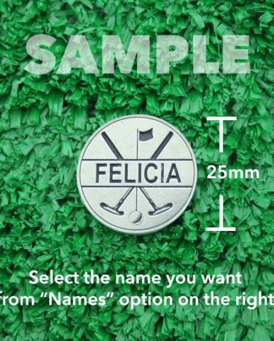 "Golf Markers Ladies Names Letter ""F"""