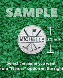 "Golf Markers Ladies Names Letter ""M"""