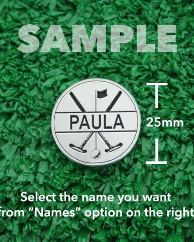 "Golf Markers Ladies Names Letter ""P"""