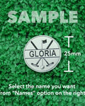 "Golf Markers Ladies Names Letter ""G"""