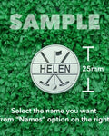 "Golf Markers Ladies Names Letter ""H"""