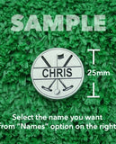 "Golf Markers Men's Names Letter ""C"""