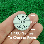 "Golf Markers Men's Names Letter ""I"""