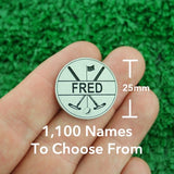 "Golf Markers Men's Names Letter ""F"""