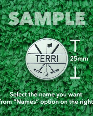 "Golf Markers Ladies Names Letter ""T"""