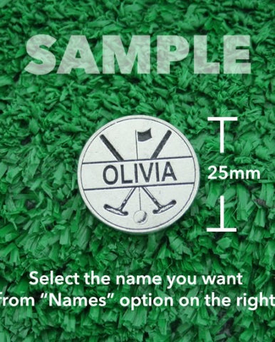 "Golf Markers Ladies Names Letter ""N"" ""O"""