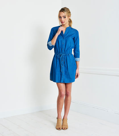 THE CHAMBRAY SHIRT DRESS